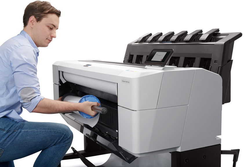 HP DesignJet 1600 -incarcare-rola-2