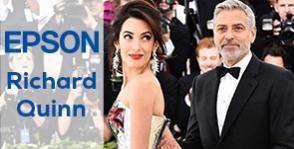 Amal Clooney la Met Gala intr-o rochie creata de Richard Quinn si imprimata Epson
