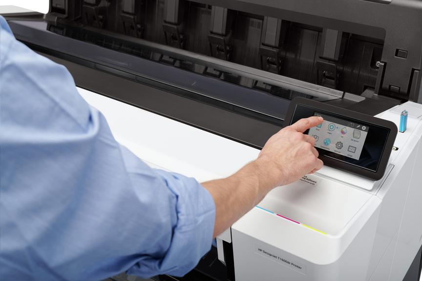 HP DesignJet 1600 -control-touch-screen